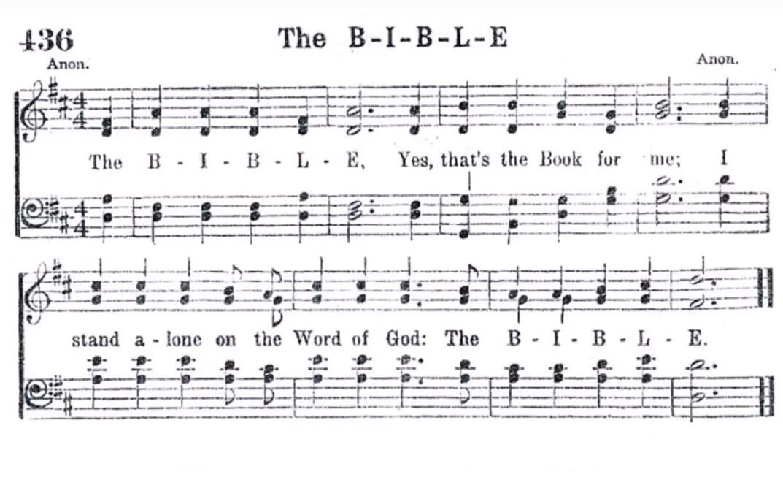 The B-I-B-L-E – Gospel Choruses & Songs